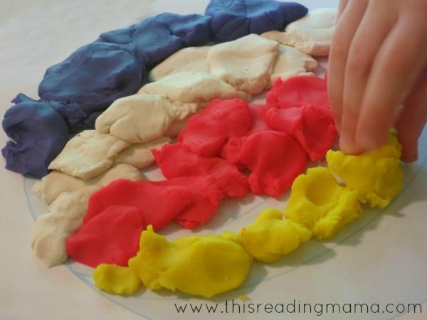 beach ball playdough mat