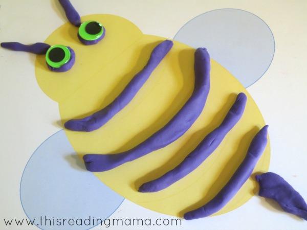 bee playdough mat