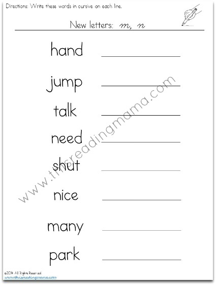 Printables Cursive Handwriting Worksheets free cursive handwriting worksheets