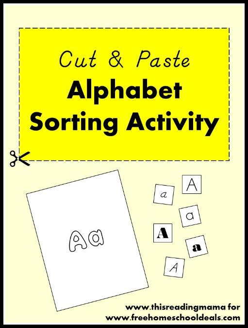 Cut and Paste Alphabet Sorting Activity | Free Homeschool Deals