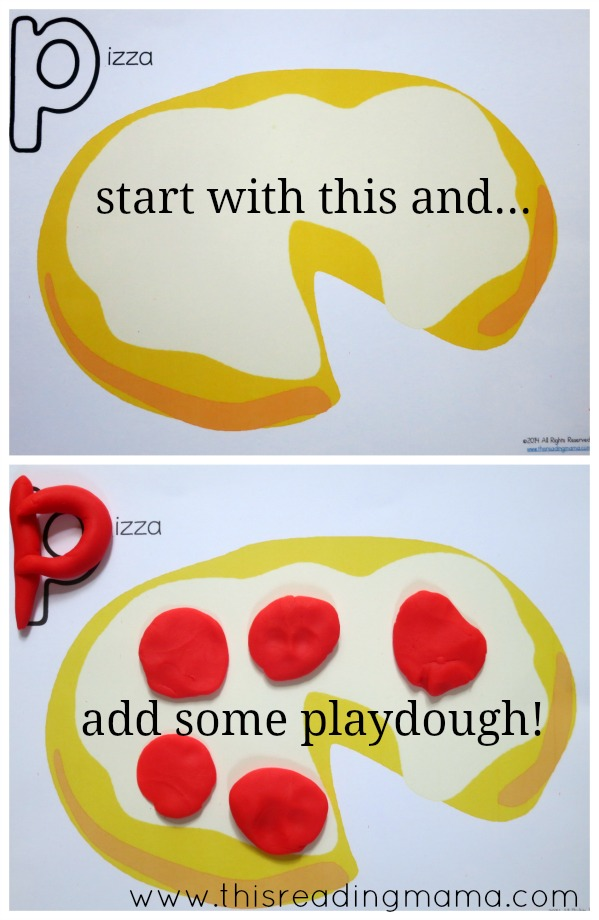 letter p playdough mat example - This Reading Mama
