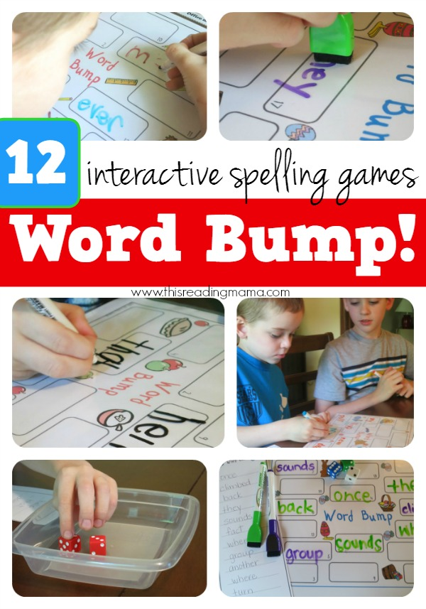 12 Interactive Spelling Games - Word Bump! - This Reading Mama
