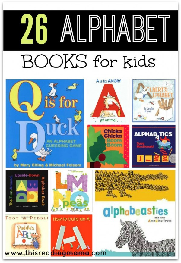 Alphabet Books for Kids #alphabet #preschool #bookrecommendations