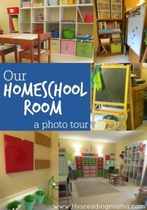 Our Homeschool Room - a photo tour