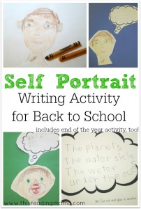 Self Portrait Writing Activity for Back to School - This Reading Mama
