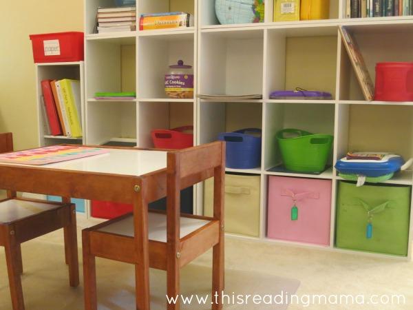 area in homeschool room for the tot