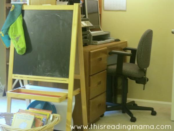 computer area in homeschool room