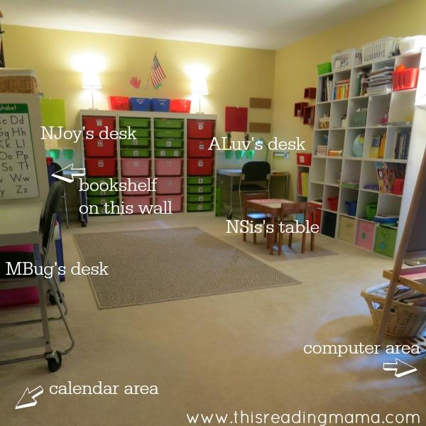photo of homeschool room