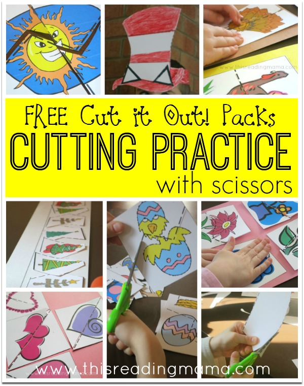 Cutting Practice With Scissors Free Cut It Out Packs