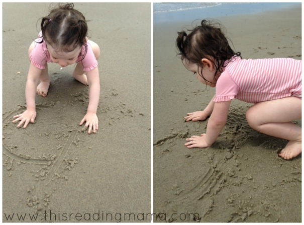 erasing letters in the sand