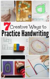 7 Creative Ways to Practice Handwriting