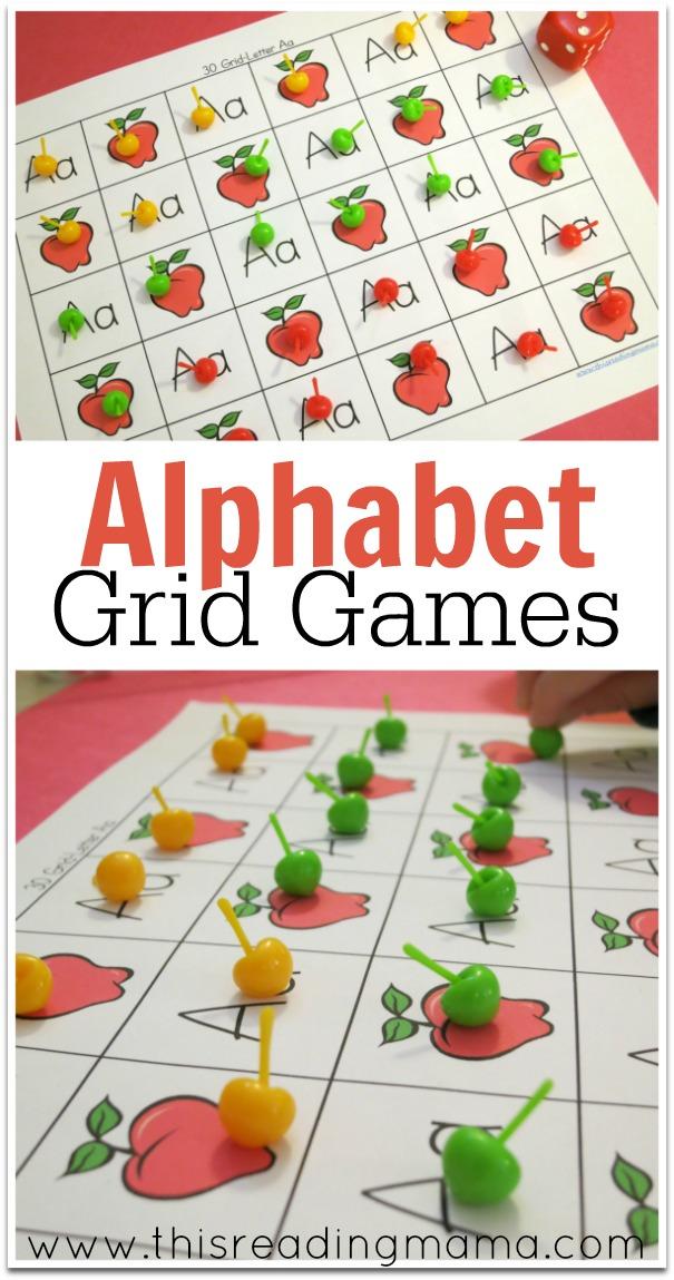 Alphabet Grid Games {FREE} - This Reading Mama