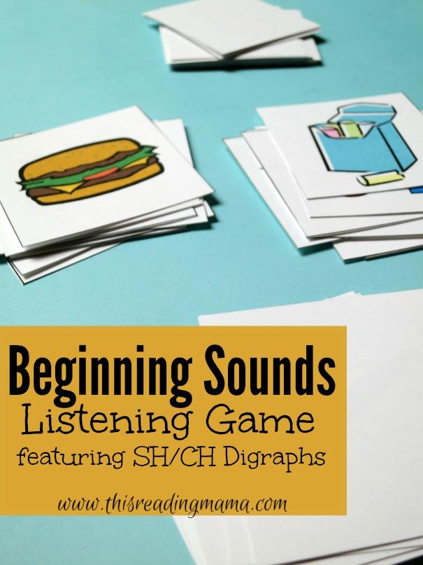 Beginning Sounds Listening Game {Free}