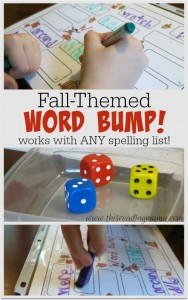 Fall-Themed Word Bump {FREE}