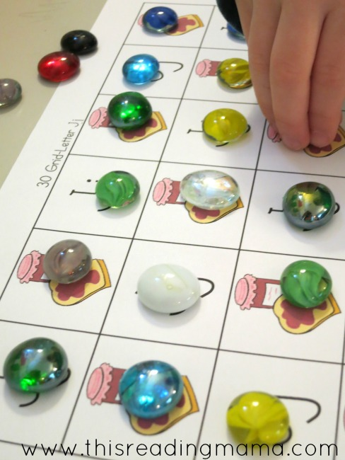 J is for jewels grid game