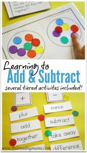 Learning to Add and Subtract - Tiered Activities  This Reading Mama