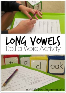 Long Vowels Roll a Word Activity {FREE}  This Reading Mama