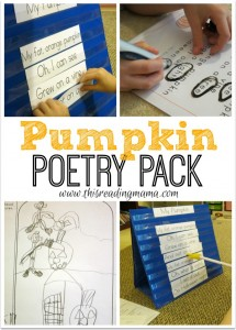 Pumpkin Poetry Pack {FREE}  This Reading Mama