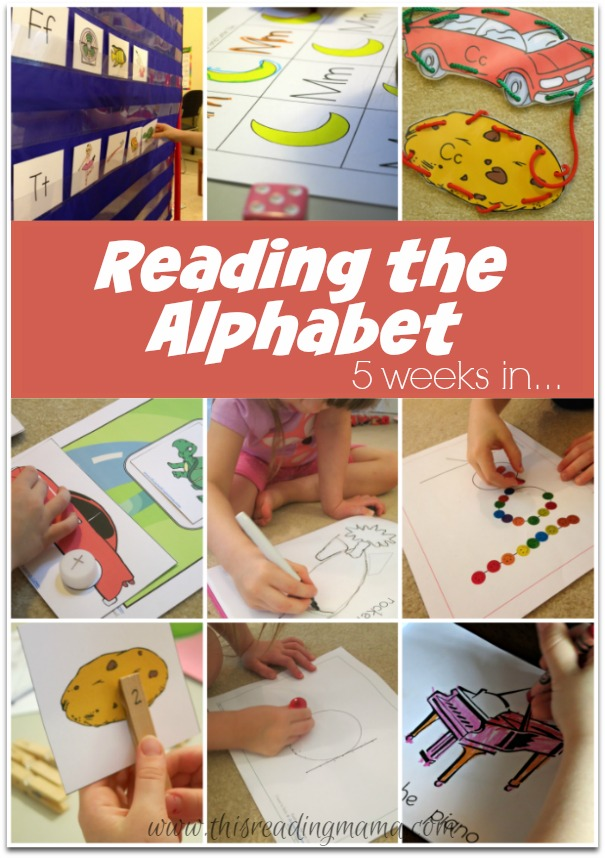 Reading the Alphabet {5 weeks in}