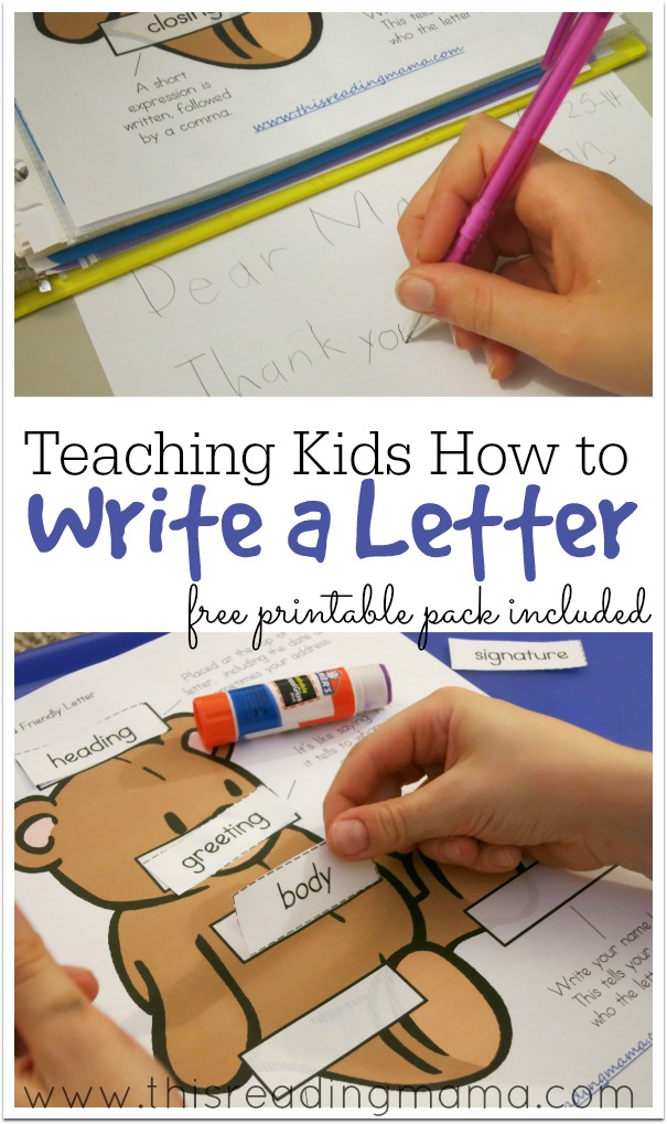 teaching kids how to write a letter free printable pack this reading mama