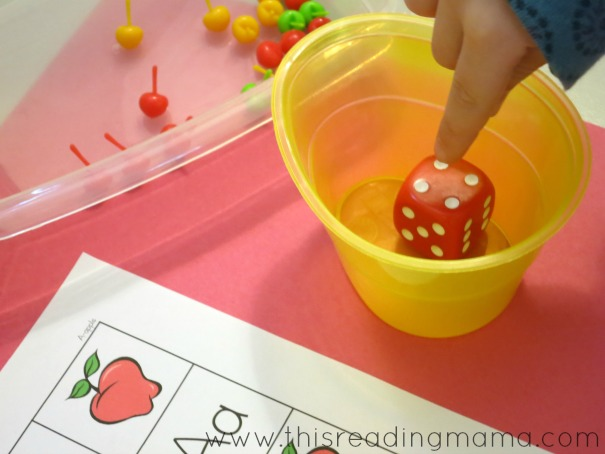 counting the dots for alphabet grid games