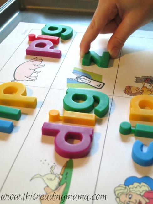 short vowel magnetic spelling