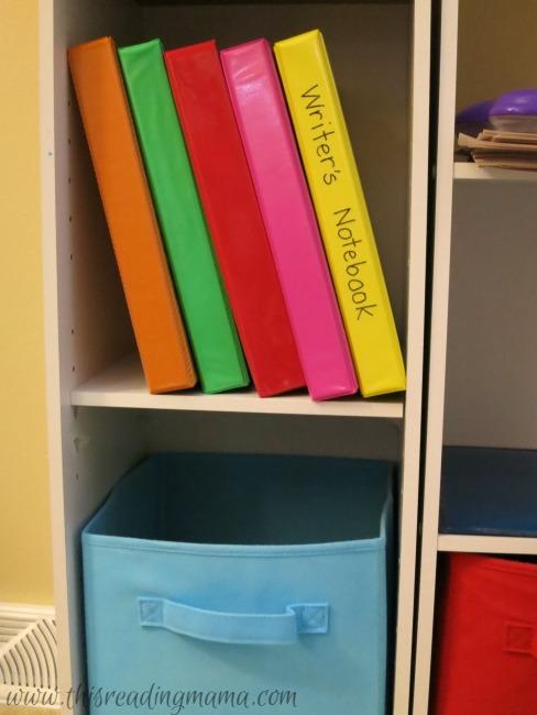 storage of handwriting notebooks