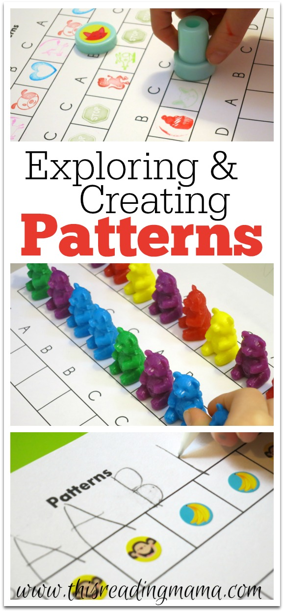exploring and creating patterns free printable included