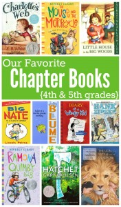 Favorite Chapter Books for 4th and 5th grades - This Reading Mama