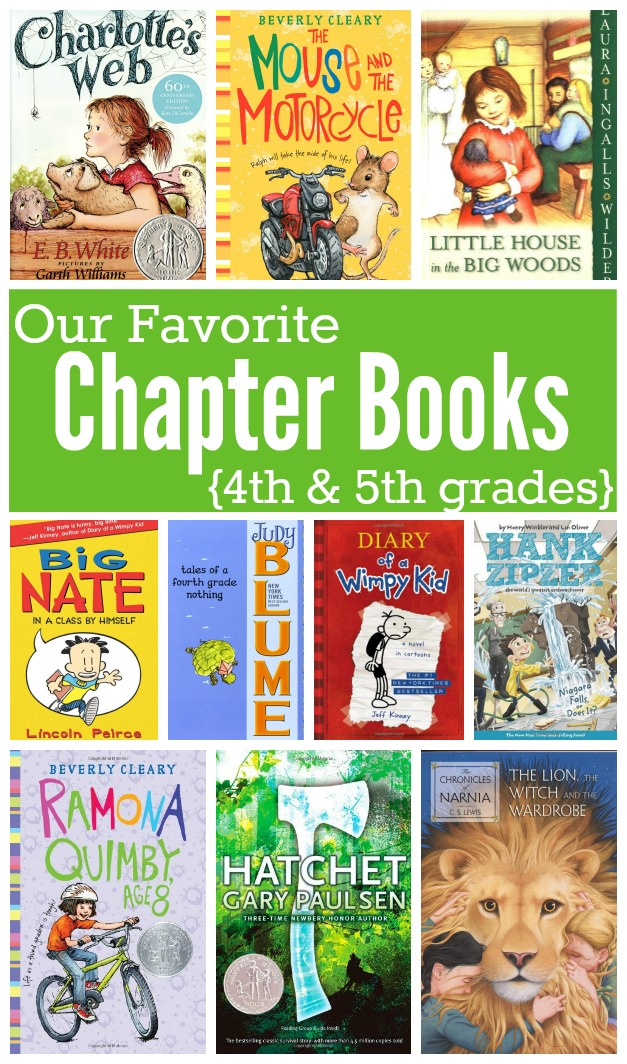 Favorite Chapter Books For Kids In 4th And 5th Grades