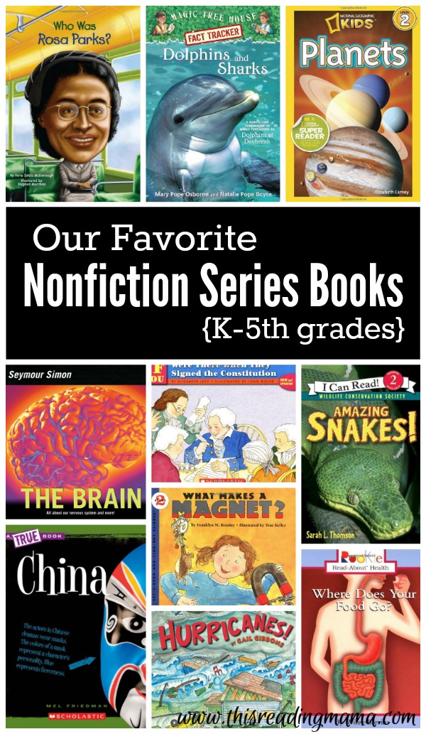 Nonfiction Series Books for K-5th grades | This Reading Mama