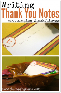Writing Thank You Notes with FREE Printable Pack This Reading Mama