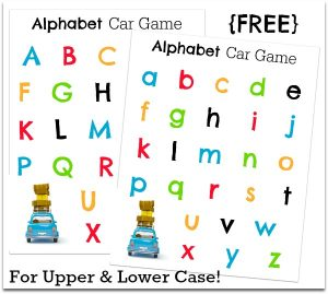 Alphabet Car Games for Upper and Lowercase Letters {FREE} - This Reading Mama