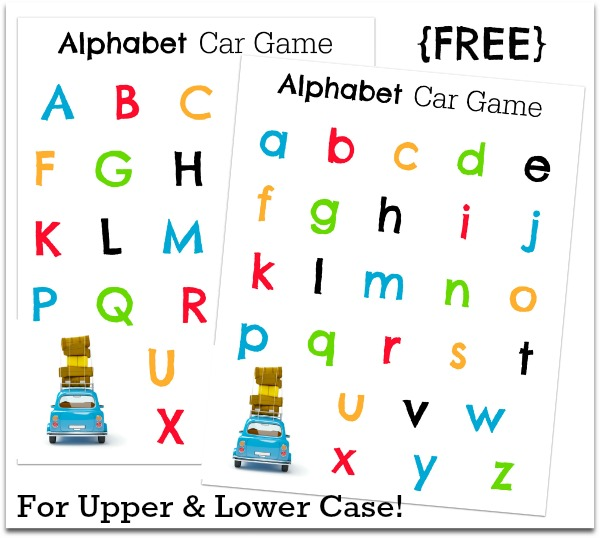 Number Names Worksheets free printable alphabet letters upper and lower case : 20+ Car Games and Activities
