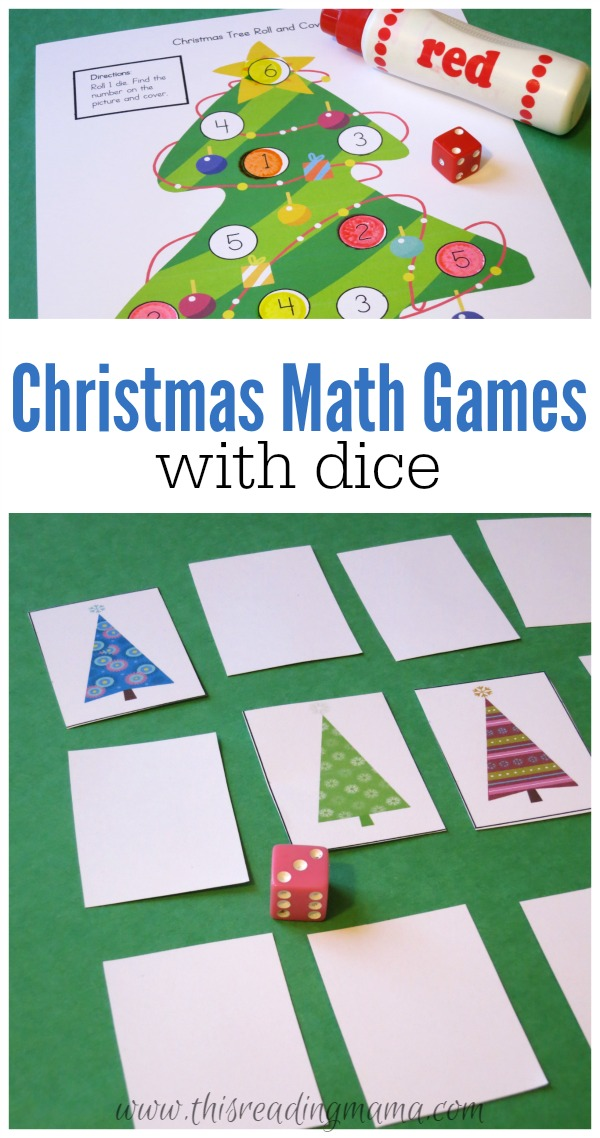 Christmas Math Games with Dice - FREE Printable Pack - This Reading ...