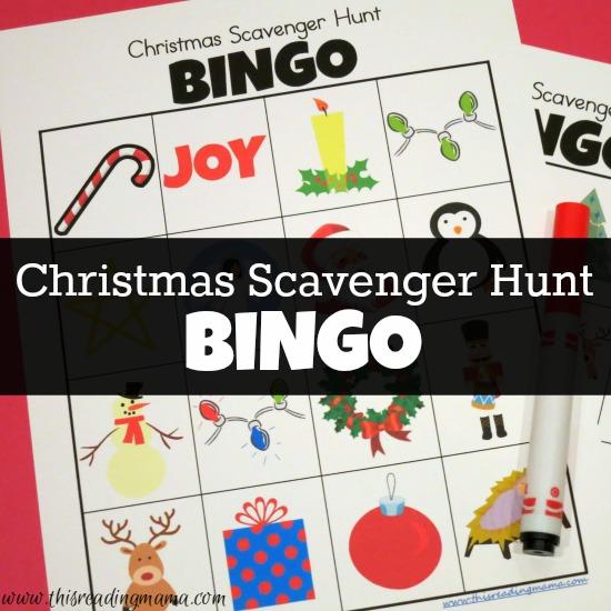 Christmas Scavenger Hunt Printable BINGO Boards