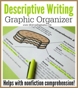 Descriptive Writing Graphic Organizer {FREE} 2 - This Reading Mama