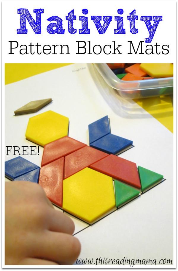 FREE Nativity Pattern Block Mats Enchanting Pattern Block Mats