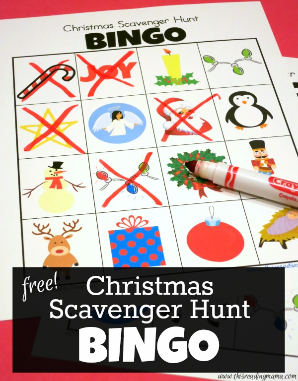 Christmas Scavenger Hunt {Printable BINGO Boards}
