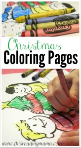 Free Printable Coloring Pages for Christmas - Color by Letter - This Reading Mama