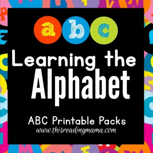 Learning the Alphabet- Printable ABC Packs