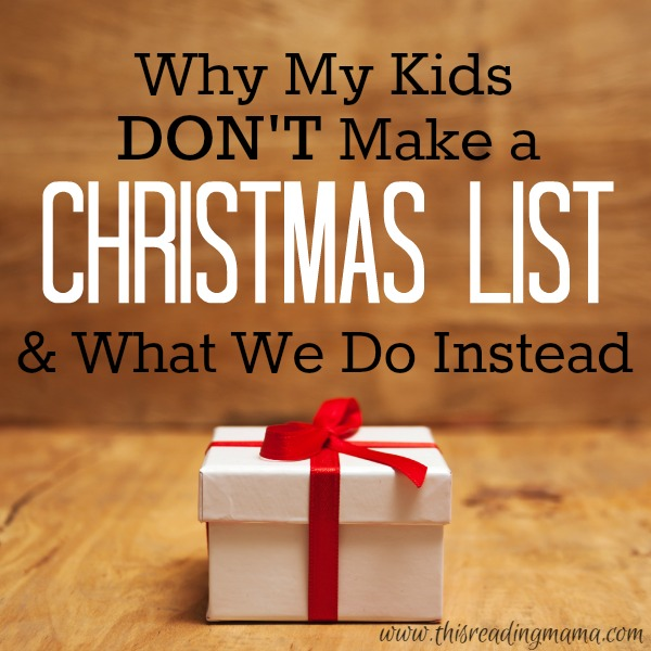why my kids don t make a christmas list
