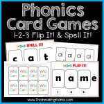 Phonics Card Games - Flip It and Spell It -tpt