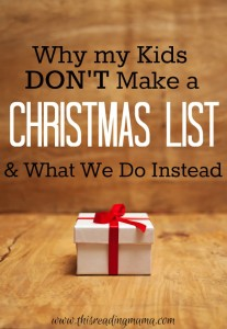 Why my Kids Do Not Make a Christmas List and What We Do Instead