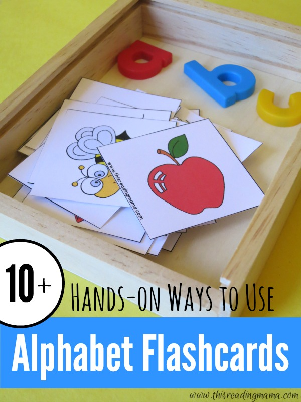 10+ Hands-On Ways to Use Alphabet Flashcards | This Reading Mama