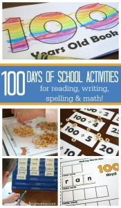 100th Days of School Activities for Reading, Writing, Spelling & Math