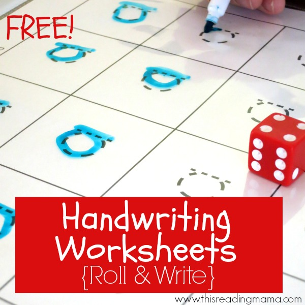FREE Handwriting Worksheets - 20 Grid Games for Print and D'Nealian Handwriting