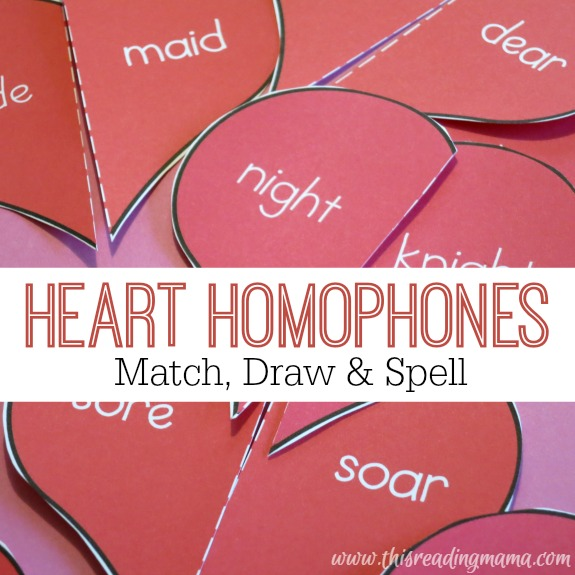 FREE Heart Homophones Pack - This Reading Mama