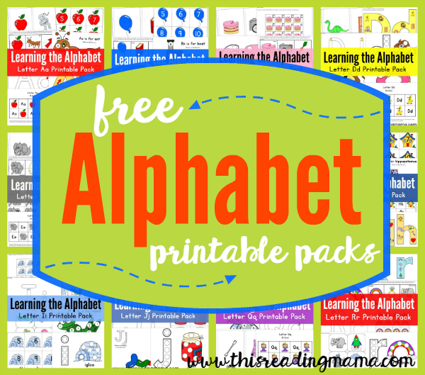 FREE Printable ABC Packs - Learning the Alphabet - This Reading Mama