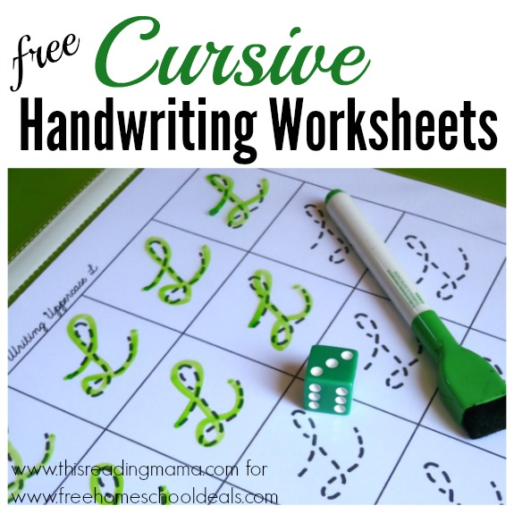 Free Cursive Worksheets For Homeschoolers: FREE CURSIVE HANDWRITING WORKSHEETS (instant download)   Free    ,